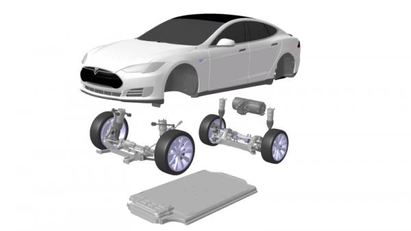 tesla model s устройство